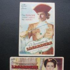 Flyers Publicitaires de films Anciens: EL JURAMENTO DE LAGARDERE, PIERRE BLANCHAR, TEATRO IDEAL DE TABERNES. Lote 228945495