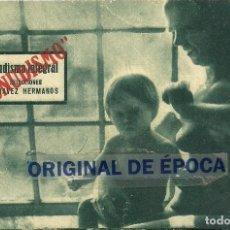 Folhetos de mão de filmes antigos de cinema: (PG-190831)NUDISMO INTEGRAL, PROGRAMA TARJETA AÑOS 30, CHAVEZ HERMANOS, CON PUBLICIDAD. Lote 229069900