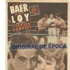 Cine: (PG-190826)IDOLO DE LAS MUJERES - METRO GOLDWYN MAYER - PROGRAMA DE MANO - DIFÍCIL. Lote 229072128