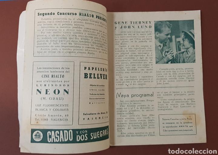 Cine: INFIERNO EN LA NUBES - CINES RIALTO - PROGRAMA CINE - FOLLETO DE MANO - AÑO 1952 - Foto 3 - 229118325