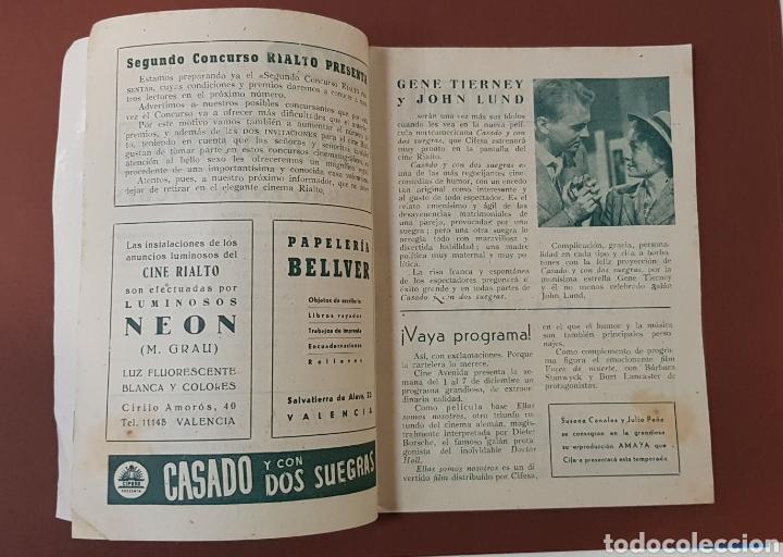 Cine: INFIERNO EN LA NUBES - CINES RIALTO - PROGRAMA CINE - FOLLETO DE MANO - AÑO 1952 - Foto 4 - 229118325