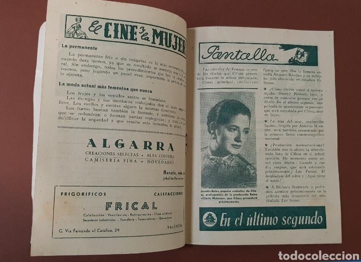 Cine: INFIERNO EN LA NUBES - CINES RIALTO - PROGRAMA CINE - FOLLETO DE MANO - AÑO 1952 - Foto 5 - 229118325