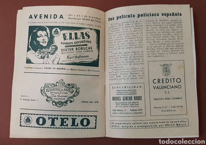 Cine: INFIERNO EN LA NUBES - CINES RIALTO - PROGRAMA CINE - FOLLETO DE MANO - AÑO 1952 - Foto 6 - 229118325