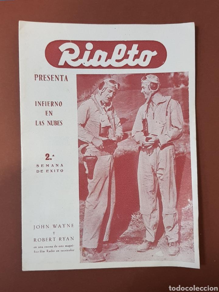 INFIERNO EN LA NUBES - CINES RIALTO - PROGRAMA CINE - FOLLETO DE MANO - AÑO 1952 (Cine - Folletos de Mano - Bélicas)