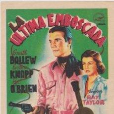 Cine: LA ÚLTIMA EMBOSCADA (CON PUBLICIDAD). Lote 229267510