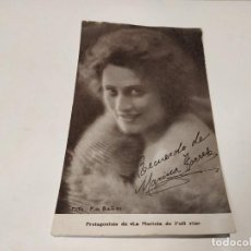 Folhetos de mão de filmes antigos de cinema: FOTO CON DEDICATORIA IMPRESA DE MARINA TORRES - PROTAGONISTA DE LA MARIETA DE L'ULL VIU. Lote 229581325