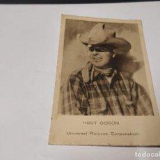 Folhetos de mão de filmes antigos de cinema: POSTAL HOOT GIBSON CON PUBLICIDAD EN EL REVERSO DE LA PELÍCULA EL GRITO DE BATALLA. Lote 229581525