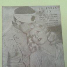 Cine: LA ESPIA NUMERO 13 GARY COOPER CON SELLO M.G.M. BUEN ESTADO. Lote 229718385