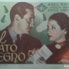 Cine: EL GATO NEGRO BASIL RATHBONE ORIGINAL S.P. CON SELLO TEATRO PRINCIPAL IRUN. Lote 229762230