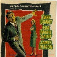 Folhetos de mão de filmes antigos de cinema: FOLLETO DE MANO - CON LA MUERTE EN LOS TALONES - CINE MODERNO - TARRAGONA - AÑO 1960. Lote 261273885