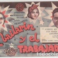 Cine: EL BAILARÍN Y EL TRABAJADOR (CON PUBLICIDAD). Lote 230286960