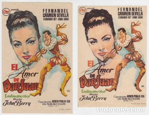 EL AMOR DE DON JUAN (Cine - Folletos de Mano - Clásico Español)