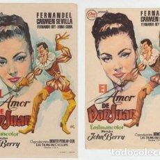Cine: EL AMOR DE DON JUAN. Lote 230287690