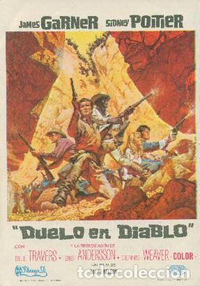 DUELO EN DIABLO (CON PUBLICIDAD) (Cine - Folletos de Mano - Westerns)