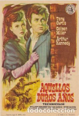 AQUELLOS DUROS AÑOS (CON PUBLICIDAD) (Cine - Folletos de Mano - Westerns)