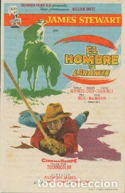 EL HOMBRE DE LARAMIE (CON PUBLICIDAD) (Cine - Folletos de Mano - Westerns)