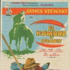 Cine: EL HOMBRE DE LARAMIE (CON PUBLICIDAD). Lote 231252730