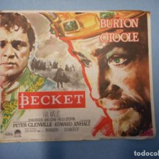 Foglietti di film di film antichi di cinema: BECKET. RICHARD BURTON.. Lote 231616580