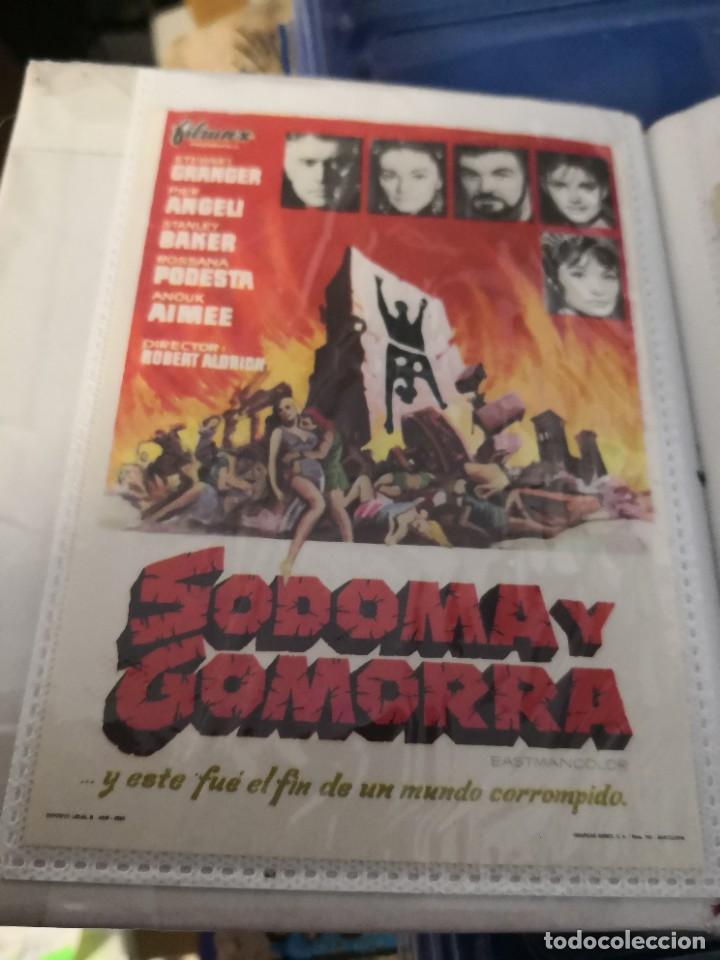 PROGRAMA DE MANO CINE SODOMA Y GOMORRA (1963) (Cine - Folletos de Mano - Bélicas)