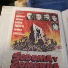 Cine: PROGRAMA DE MANO CINE SODOMA Y GOMORRA (1963). Lote 231706805