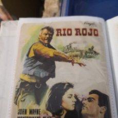 Foglietti di film di film antichi di cinema: FOLLETO DE CINE: RIO ROJO; HOHN WAYNE ; MONTGOMERY CLIFT. Lote 231708260
