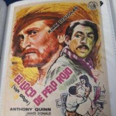 Cine: EL LOCO DE PELO ROJO, IMPECABLE SENCILLO ORIGINAL, KIRK DOUGLAS, SIN PUBLICIDAD. Lote 231709385