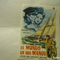 Cine: PROGRAMA EL MUNDO EN SUS MANOS -GREGORY PECK. Lote 231740395