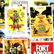 Cine: LOTE DE 50 FOLLETOS PROGRAMAS DE CINE ORIGINALES TODOS DIFERENTES EN PERFECTO ESTADO. Lote 231822945