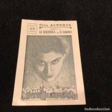 Cine: LA KAZANOVA Y SUS 15 TZIGANES - PASTO DE TIBURONES - PROGRAMA SENCILLO. Lote 232258215
