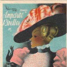 Cine: PN - PROGRAMA DE CINE - MARIA DE LOS REYES - AMPARITO RIVELLES - CINE VICTORIA (MÁLAGA) - 1948.. Lote 232275700
