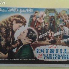 Cine: ESTRELLA DE VARIEDADES BARBARA STANWICK ORIGINAL C.P. CINE UNION MASRAMPIÑO. Lote 232406140