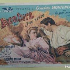 Cine: AVENTURA CONCHITA MONTENEGRO ORIGINAL C.P. TEATRO PRINCIPAL IRUN. Lote 232406335