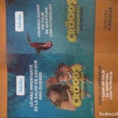 Flyers Publicitaires de films Anciens: LOS CROODS UNA NUEVA ERA. Lote 232422490