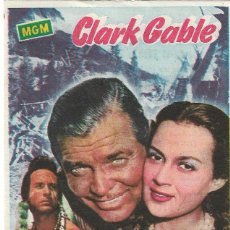 Folhetos de mão de filmes antigos de cinema: PN - PROGRAMA DE CINE - MÁS ALLÁ DEL MISSOURI - CLARK GABLE - PRINCIPAL CINEMA (MÁLAGA) - 1955.. Lote 257502070