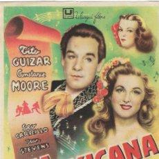 Folhetos de mão de filmes antigos de cinema: PN - PROGRAMA DE CINE - MEXICANA - TITO GUIZAR, CONSTANCE MOORE - PRINCIPAL CINEMA (MÁLAGA) - 1948.. Lote 232566870