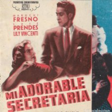 Folhetos de mão de filmes antigos de cinema: PN - PROGRAMA DOBLE - MI ADORABLE SECRETARIA - MARUCHI FRESNO, LUIS PRENDES - CINE GOYA - 1943.. Lote 232569126