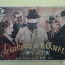 Cine: AVENTURAS DE MAXWELL JOHN LODER ORIGINAL S.P.. Lote 232776220