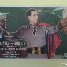 Cine: LAS LENTES DE LA MUERTE 2ª JORNADA DE LAS VENTURAS DEL CAPITAN MARAVILLAS ORIGINAL S.P.. Lote 232776280