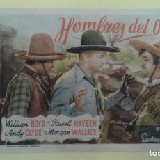 Cine: HOMBRES DEL OESTE WILLIAM BOYD ORIGINAL S.P.. Lote 232782475