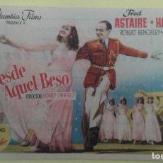 Cine: DESDE AQUEL BESO FRED ASTAIRE ORIGINAL C.P. TEATRO FLORIDA IRUN. Lote 232788840