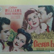 Cine: FIESTA BRAVA ESTHER WILLIAMS (LETRAS ROJAS) ORIGINAL C.P. CINE COLON RIBADEO. Lote 232789345