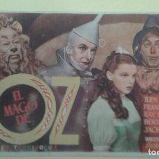 Folhetos de mão de filmes antigos de cinema: EL MAGO DE OZ JUDY GARLAND ORIGINAL S.P.. Lote 232819270