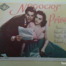 Cine: NEGOCIOS PRIVADOS NANCY KELLY ORIGINAL S.P.. Lote 232916875