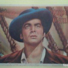 Cine: EL CAPITAN CAUTELA VICTOR MATURE ORIGINAL C.P. TEATRO PRINCIPAL IRUN ALGUN DEFECTO. Lote 232917055