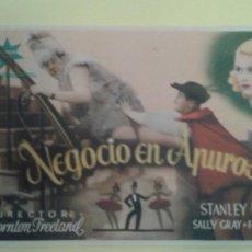 Cine: NEGOCIO EN APUROS STANLEY LUPINO ORIGINAL C.P. IDEAL CINEMA ALGUN DEFECTO. Lote 232917205