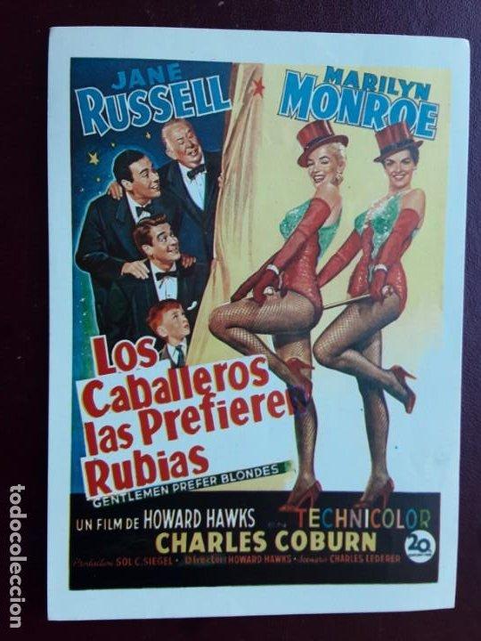 LOS CABALLEROS LAS PREFIEREN RUBIAS, MARILYN MONROE, IMPRESA EN LOS AÑOS 80 (Cine - Folletos de Mano - Comedia)