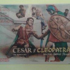 Cine: CESAR Y CLEOPATRA CLAUDE RAINS ORIGINAL C.P. NUEVO TEATRO IRUN. Lote 233053605