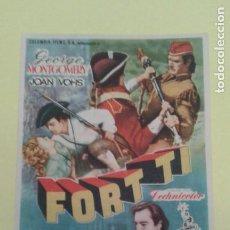 Cine: FORT TI GEORGE MONTGOMERY ORIGINAL C.P. CINE CAPITOL. Lote 233056925