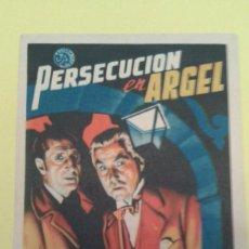Cine: PERSECUCION EN ARGEL BASIL RATHBONE ORIGINAL C.P CINE AVENIDA MOLLET. Lote 233178075