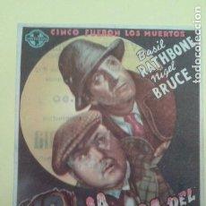 Cine: LA CASA DEL MIEDO BASIL RATHBONE ORIGINAL C.P. CINE AVENIDA MOLLET. Lote 233178540